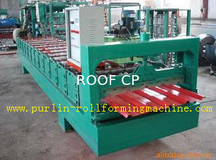Cina High Speed Glazed Tile Cold Roll Forming Machine 0 - 20 m/min Red Roofing Panel or Customized pemasok