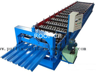 Cina Professional Steel Metal Sheet Cold Roll Forming Machine , Roof Panel Roll Former 5 Ton pemasok
