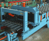Terbaik Feeding Coil 1000 mm Galvanized Metal Roofing Panel Machine / Steel Corrugated Sheet Roll Forming Machine