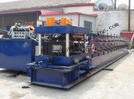 Terbaik Hydraulic PLC Control Purlin Roll Forming Machine , Z Purlin Making Machine for sale