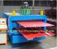 Terbaik Automatic Color Steel Cold Roll Forming Machine Sheet Metal Rolling Former for South Africa Customer for sale