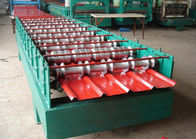 Cina 5.5KW Secret Joint Roof Panel Roll Forming Machine Pemotongan Hidrolik Dengan CE distributor