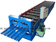 Terbaik Professional Steel Metal Sheet Cold Roll Forming Machine , Roof Panel Roll Former 5 Ton for sale