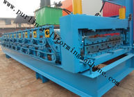 Terbaik High Efficiency Double Layer Cold Roll Forming Machine for Roofing Tile / Wall Panel for sale