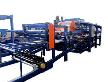 Cina Colored Steel PU Sandwich Panel Production Line , Roof Panel Roll Forming Equipment pabrik
