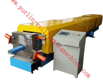 Cina Automatic Water Drainage Pipe Roll Forming Machine / Metal Eaves Gutter Equipment pabrik