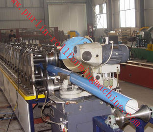 Cina Downspouts Roll Forming Machine Warna Steel Coils Untuk Rainwater Downpipe / Rain Gutteron sales